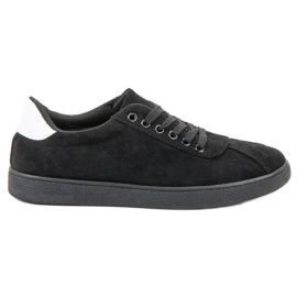 Ideal Shoes Svart snörningskläder