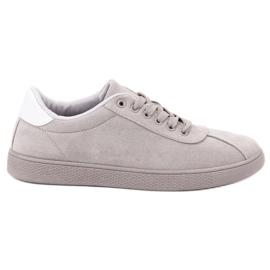 Ideal Shoes Grå snöresko