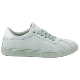 Ideal Shoes grön Mint snörningskor
