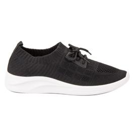 Ideal Shoes svart Textil Sportskor