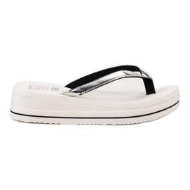 SHELOVET vit På vippor Wedge Heels