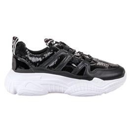 Ax Boxing Sneakers med paljetter svart