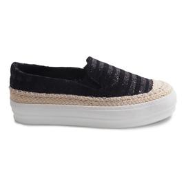 Espadrilles GH001 svarta sneakers