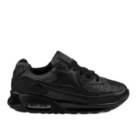 Svarta sportskor sneakers B306A-61S