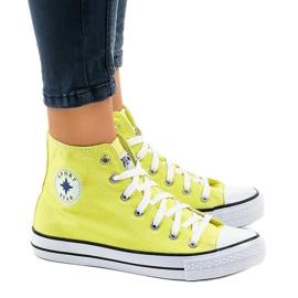 Gula klassiska höga sneakers DTS8224-17