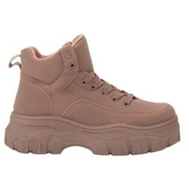 Kylie rosa Laced Footwear på plattformen