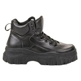 Kylie svart Laced Footwear på plattformen