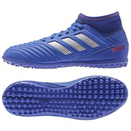 Adidas Predator 19.3 Tf Jr CM8546 blå skor