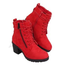 Röda fotledskor W358 Röd