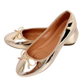 Metalliska guld ballerinor 9988-139 Guld