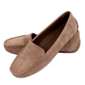 Kvinnors loafers beige R812-1 Khaki
