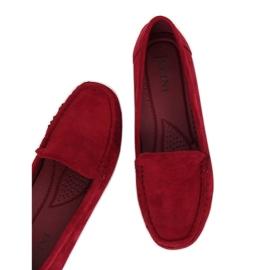 Kvinnors loafers vinröd R812-1 vin