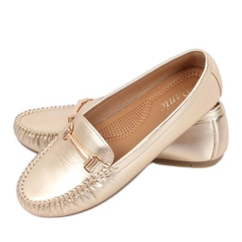 Kvinnors loafers guld L7189A Gold