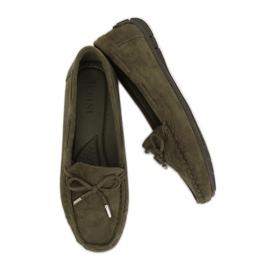 Kvinnors loafers grön R812 Grön