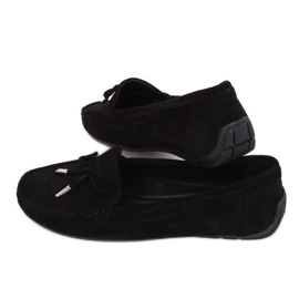Svart kvinnors loafers R812 Svart