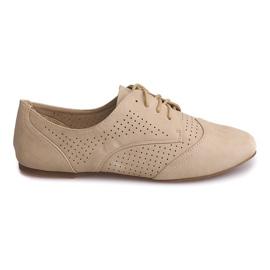 Brun Openwork Jazz Shoes Low 219 Beige