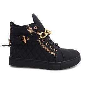 High Quilted Sneakers R-35 Black svart