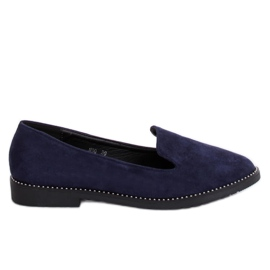 N90 Blue marinblå lords loafers