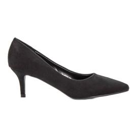 Ideal Shoes svart Bekväma pumpar på högklackat