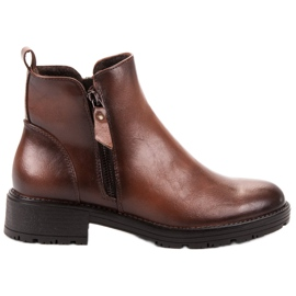 Vinceza brun Low Ankle Boots