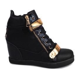 Wedge Sneakers Sheet A89 Black svart