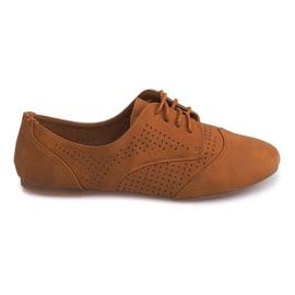 Brun Openwork Jazz Shoes Low 219 Camel