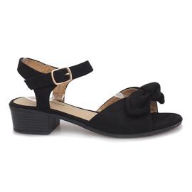 Svart Noemia högklackade sandaler