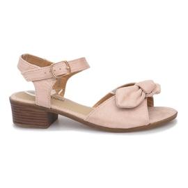 Noemia högklackade sandaler brun