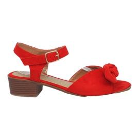 Röda Noemia högklackade sandaler
