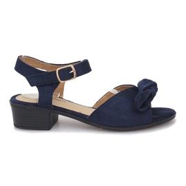 Noemia mörkblå högklackade sandaler marinblå