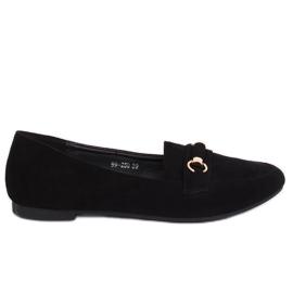 Svart kvinnors loafers 99-259 Svart