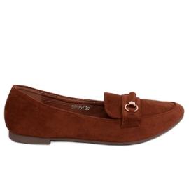 Kvinnors loafers tegel 99-259 D.ORANGE