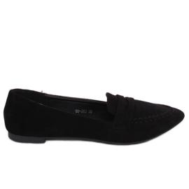 Svart kvinnors loafers 99-262 Svart