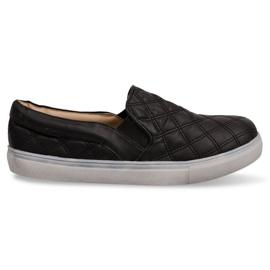Slip-on quiltade sneakers Slip On 9033 Black svart