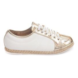 Linne Sneakers Espadrilles Q52 Gold gul