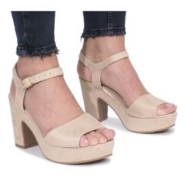 Brun Beige Boiset-stolpar sandaler