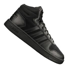 Svart Adidas Hoops 2.0 Mid M B44649 skor