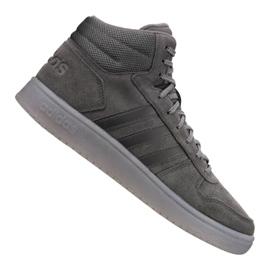 Grå Adidas Hoops 2.0 Mid M B44635 skor