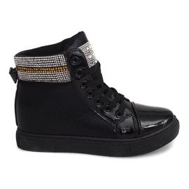 Wedge Sneakers 16-039 Svart