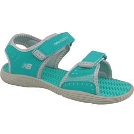 Grön New Balance Jr K2004GRG sandaler blå