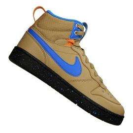 Nike Court Borough Mid Boot 2 (GS) Jr BQ5440-701 skor gul