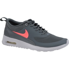 Grå Nike Air Max Thea Gs W 814444-007 skor