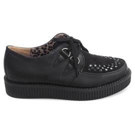 Svart Boots Creepers On Platform 061ss Black