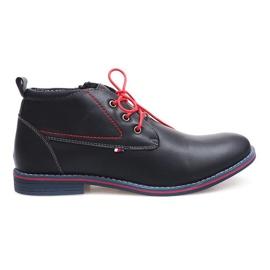 Högisolerade bundna skor 86105 Navy marinblå