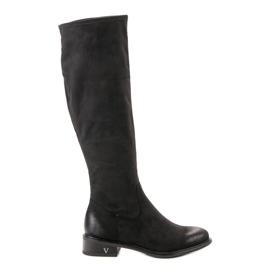 Svart Suede Boots VINCEZA