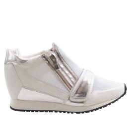 Fashionabla enkla sneakers SK48 vit
