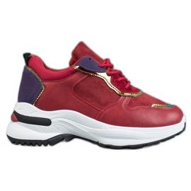 SHELOVET Casual Sneakers röd