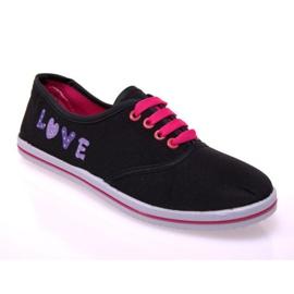 Sneakers med tyg 12D-130 svart