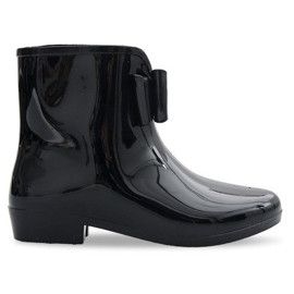 NYA Wellingtons With Bow NEW1 Svart