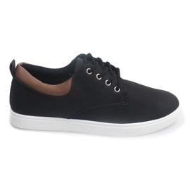 Casual herrsneakers 655 svart